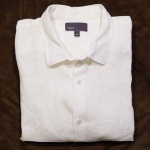 Vince 100% Linen Long Sleeve